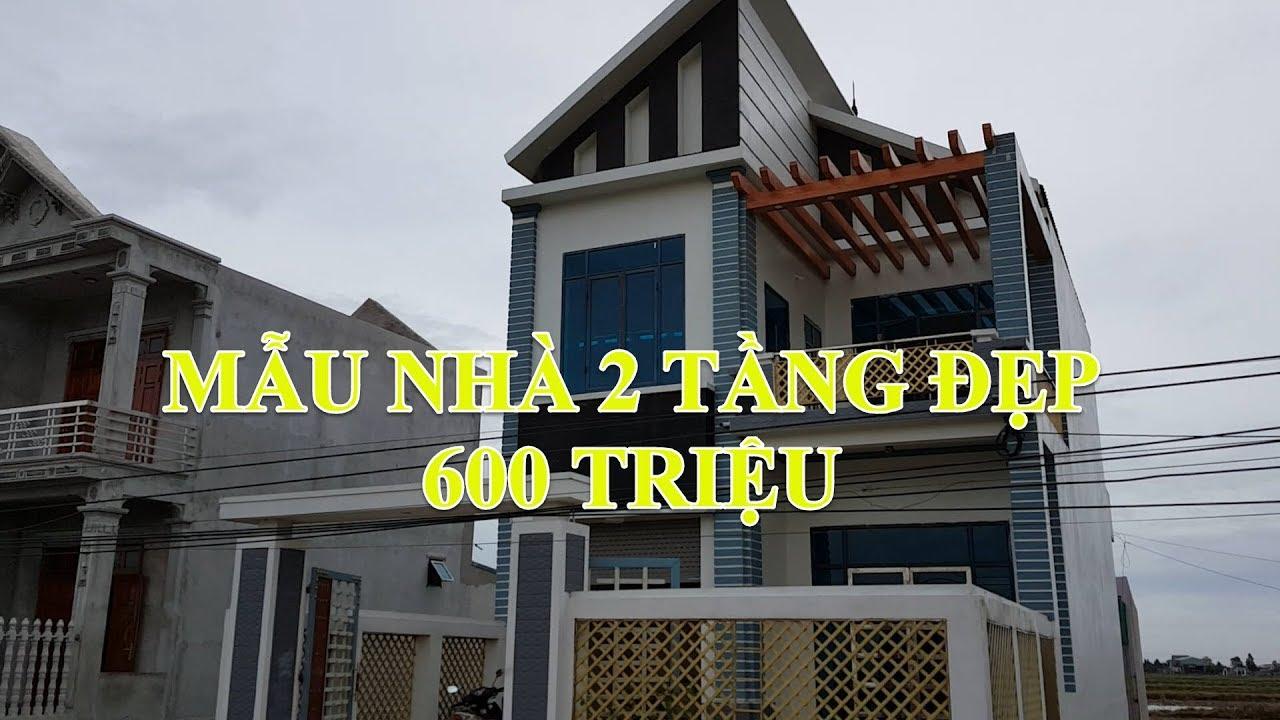 Mẫu Nhà Ống 2 Tầng Đẹp Diện Tích 7x9m Giá 600 Triệu