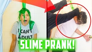 DUMPING SLIME ON HEAD PRANK GONE WRONG! (DAY 156) epic fail