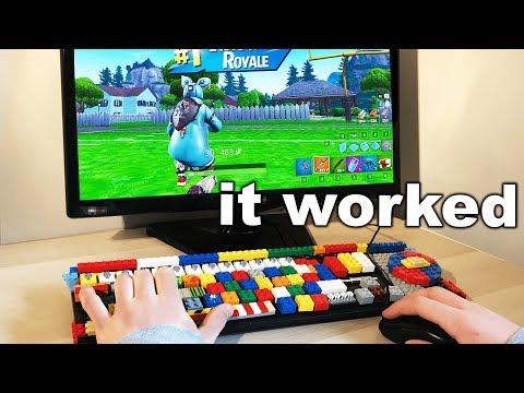 I Built A Keyboard Using LEGO and WON - Fortnite
