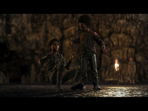 The Walking Dead Season 4 Episode 4 - AJ gets really mad, Yells at + HITS Clem |