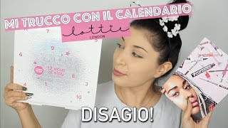 MI TRUCCO con il CALENDARIO DELL' AVVENTO di LOTTIE LONDON 😂🙈 MelissaTani