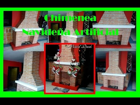 Pasos para hacer chimenea navide a decorativa artificial for Como hacer chimeneas decorativas