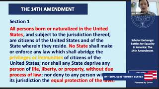 Battles For Equality In America: The 14th Amendment (Middle School)