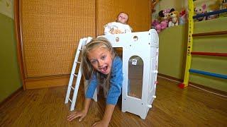 Обложка на видео о ПОДАРКИ для КУКЛЫ Реборн! Кроватка, Стол и Шкаф Мебель для Куклы!