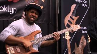 Victor Wooten at Fodera booth - NAMM 2014