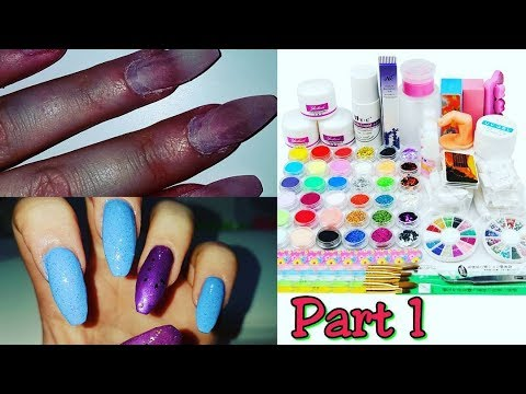 my-first-infill-on-myself-using-amazon-acrylic-nail-kit-|-part-1-acrylic-application-|-idlegirl
