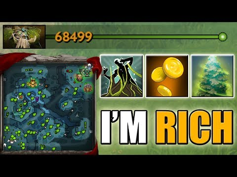 The richest DotA 2 Hero in Ability Draft [Global Vision + Global Farm Treant] 68k Net Worth