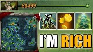 The richest DotA 2 Hero in Ability Draft [Global Vision + Global Farm Treant] 68k Net Worth