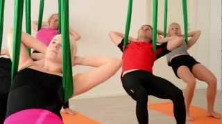 Aerial Yoga (Ilmajooga) at Vertical Club