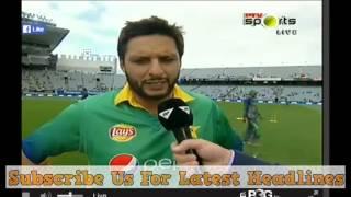 Shahid Afridi Interview 15 January 2016 On Ptv Sports