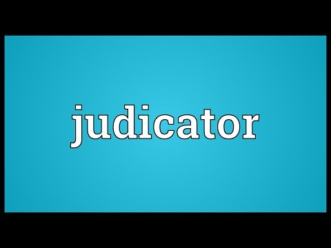 Header of judicator