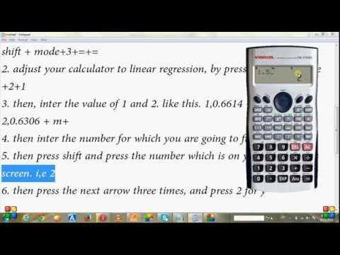 How to solve the interpolation in calculator | casio fx991 ms.