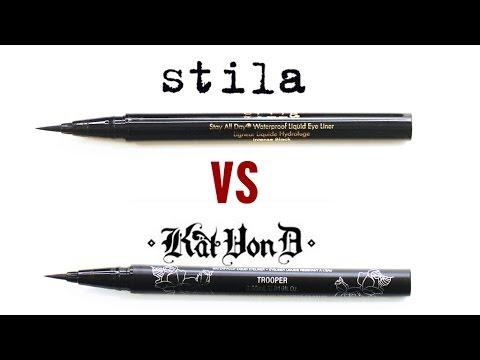 Kat Von D VS Stila Liquid Eyeliner Review