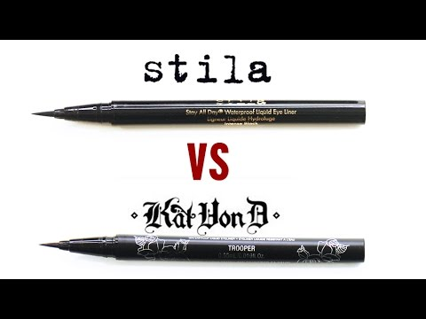 Kat Von D VS Stila Liquid Eyeliner Review