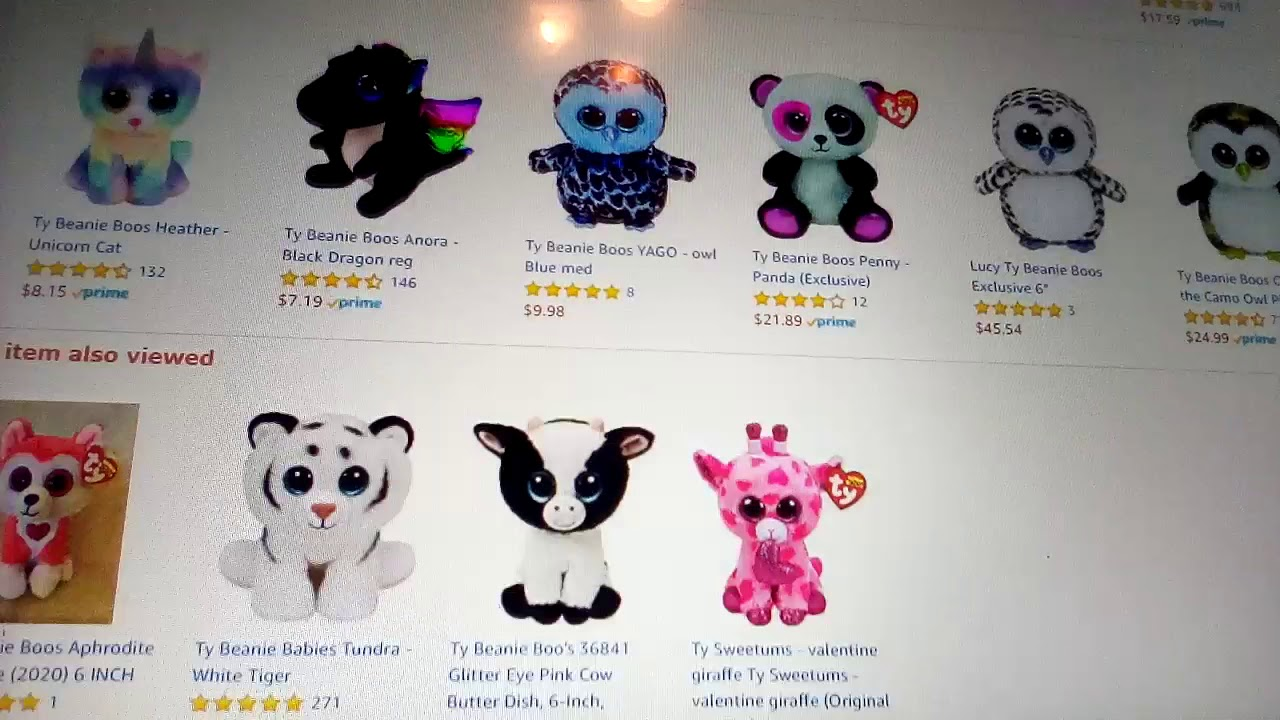 Alaska Stuffed Animals, Ty Beanie Boos Lainey 6 Stuffed Animals Teddy Bears
