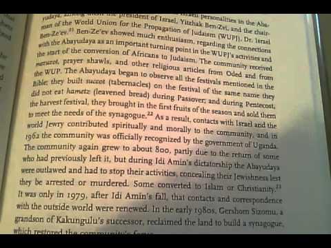 Rastafari Reading 1- The Black Jews of Africa: Pt.3 (Final Chapter)- Abayudayah & Lemba Jews