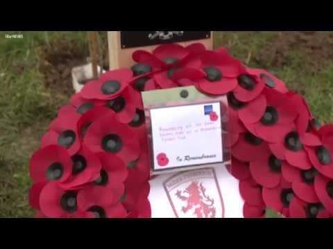 Middlesbrough FC remember the fallen in the Great War | ITV News