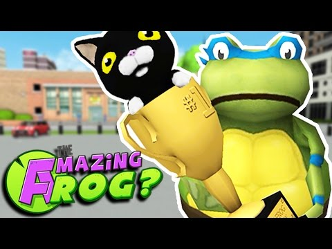 TMNT FIND ALL THE CATS & GO NUTS WITH GRAPPLING HOOKS || Amazing Frog Gameplay/Funny Moments Part 22