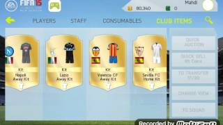 Huge club tour Fifa 15 NS ANDROID / IOS