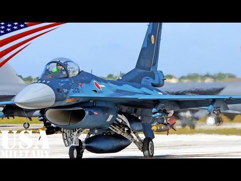航空自衛隊 F-2戦闘機のアメリカ遠征演習(グアム) - Mitsubishi F-2 Japanese Fighter Jets Maintenance & Fly