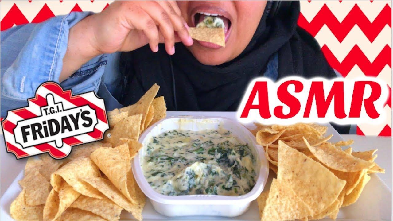 Asmr Tgi Fridays Spinach Artichoke Dip Crunchy Eating Sounds No Talking Diamond Asmr Youtube