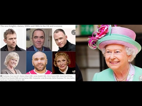 2016 British Queen Elizabeth New Years Honours - KNIGHTS BACHELOR