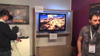 Le réseau fibre orange de la ville de Rennes en VR & Leap Motion @ Laval Virtual