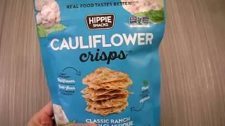 Review Hippie Snacks Cauliflower Crisps Classic Ranch Gluten Free taste test