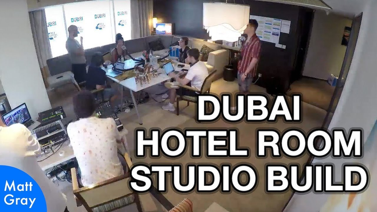 Youtube Thumbnail Image: Dubai Hotel Room Studio Build
