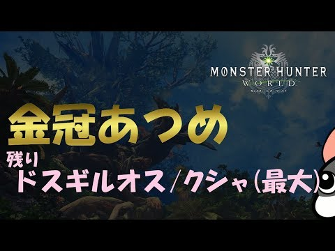 【MHW実況】金冠あつめ+HR上げする【モンハンワールド】