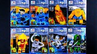 LEGO Marvel Super Heroes Fantastic Four Spider-Man Minifigures (bootleg / knock-off) JR136
