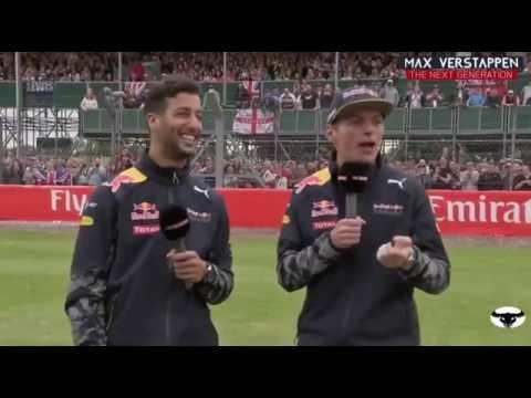 The F1 Show 2016 Great Britain Max Verstappen and Daniel Ricciardo