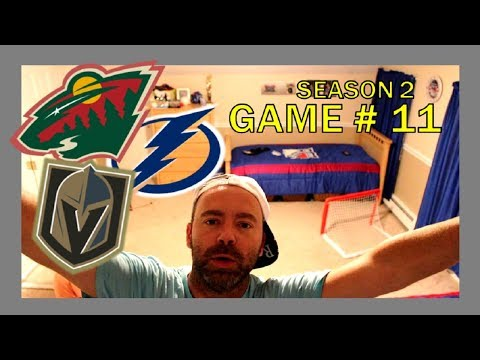 KNEE HOCKEY GAME # 11 - GOLDEN KNIGHTS / WILD / LIGHTNING - SEASON 2 - QUINNBOYSTV