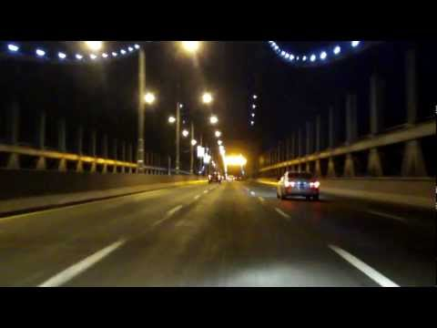 Robert F. Kennedy (Triborough) Bridge north/eastbound (Queens to Bronx) (Night)