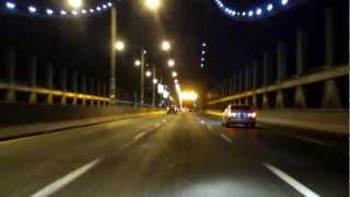 Robert F. Kennedy (Triborough) Bridge north/eastbound (Queens to Bronx) (Night)