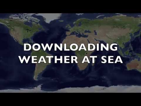 Downloading weather at sea REALTIME demo of PredictWind Offshore Weather. 2018