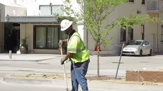 Crews clear glass from city streets