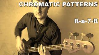 Walking Bass Lessons - L#5 Chromatic Patterns - R-a-7-R