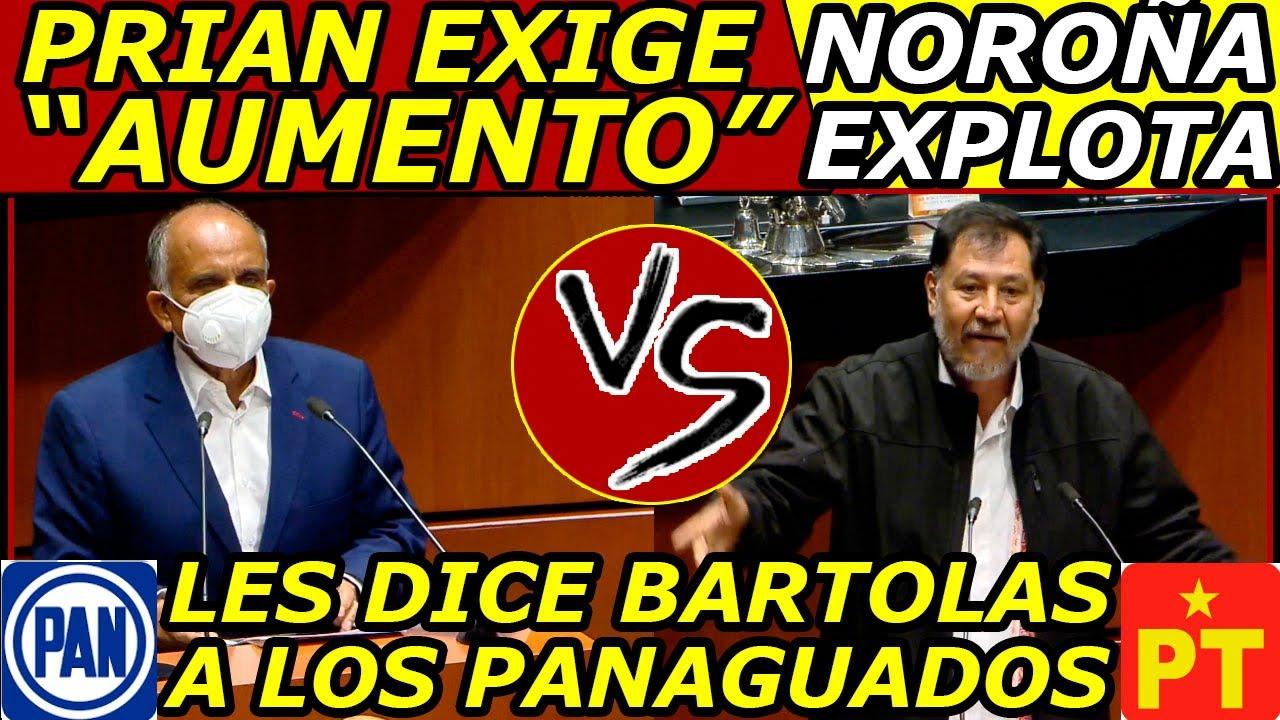 """NOROÑA Explotó """"Arraso hasta con Senadores de MORENA"""" y llama BARTOLAS a los de la OPOSICIÓN"""