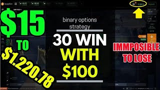 binary options strategy - 30 Win with $100 - iq option strategy - Live Trading Starting 2020