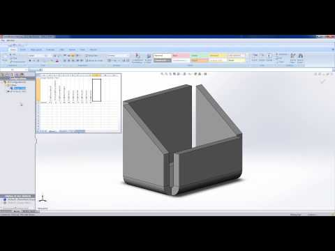 Using Design Tables in SolidWorks