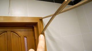Сами делаем дверной откос в ванной комнате