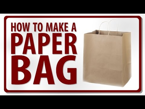fc3bd0a292 How to Make a Paper Bag - Video by Rohit - YouTube