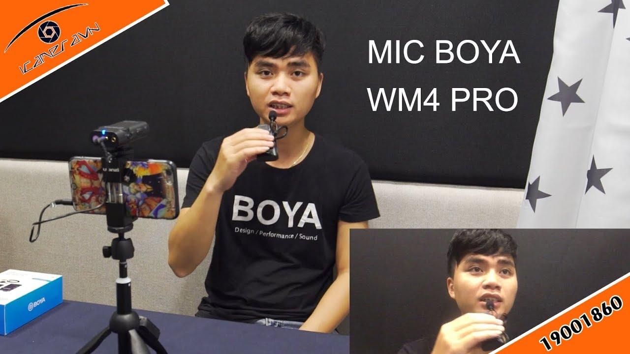 Mic thu âm cho điện thoại và camera tốt nhất trong dòng giá rẻ Boya WM4 Pro
