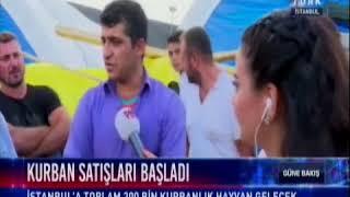 Haber Türk- Sultangazi'deki hayvan pazarında son durum aktarılıyor.