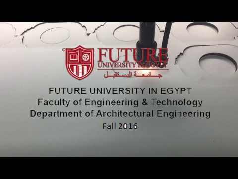 Dynamic tower in Dubai 2016 || Architectural Engineering students at Future University in Egypt.