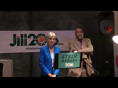 Jill Stein and Ajamu Baraka take questions from the press