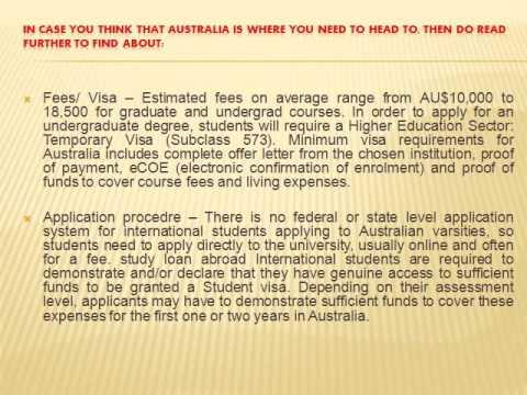Study Loan Abroad : Start Smart down under in Australia