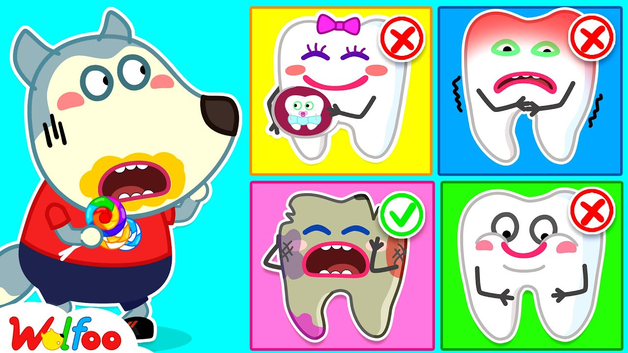 Wolfoo, What Will Your Teeth Look Like if You Eat Too Much Candy? Kids Good Habits | Wolfoo Channel
