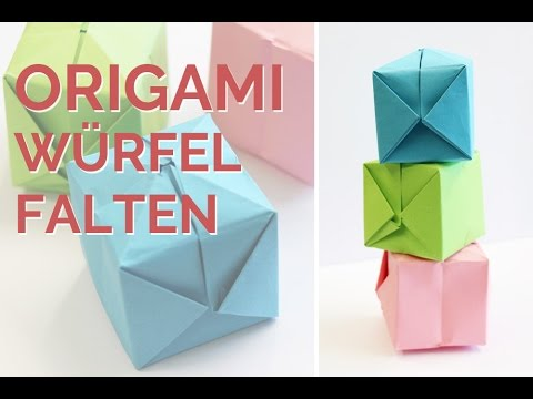 origami w rfel falten origami cube faltanleitung. Black Bedroom Furniture Sets. Home Design Ideas